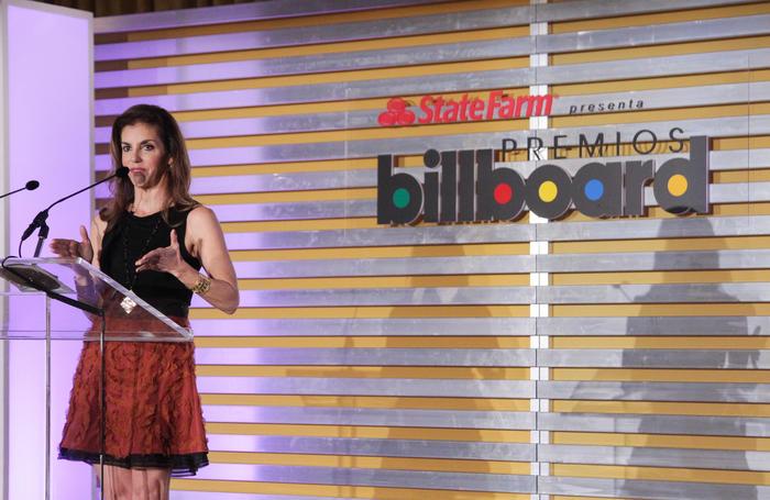 Leila Cobo, anunciando finalistas, Conferencia y Premios Billboard Musica Latina 2015