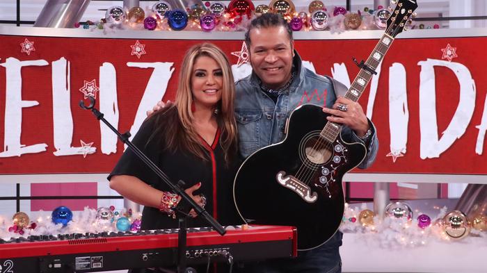 Lena Burke y Amaury Gutiérrez