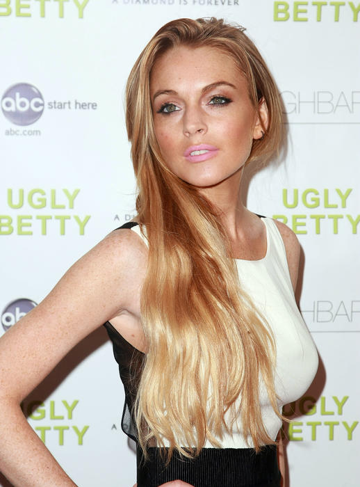 "Lindsay Lohan at ""Ugly Betty"" In New York Preview Party"