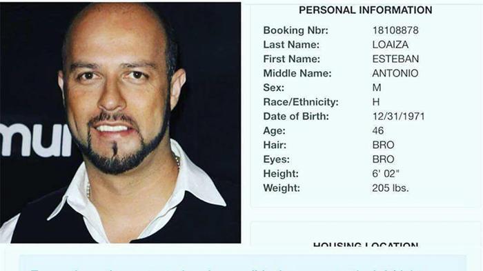 Arrestan a Esteban Loaiza por posesión de drogas