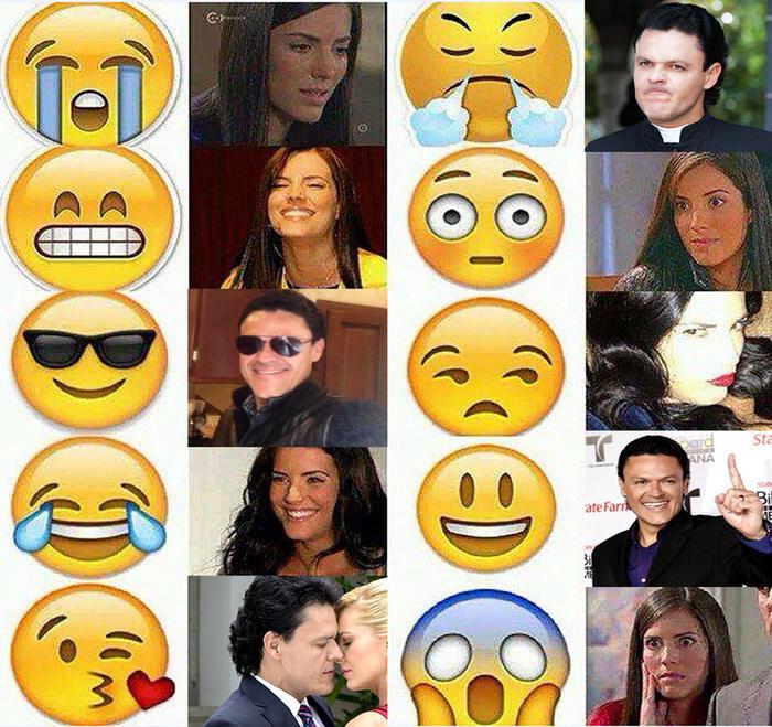 Pedro Fernández y Gaby Espino's caras en emoji