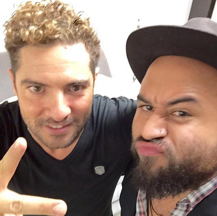 Luis Castro con David Bisbal Panacea Project Foto de Instagram 2014