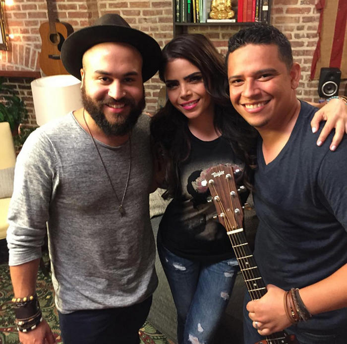 Luis Castro y Carlos Bermon con Yarel Ramos foto de Instagram 2015 Panacea Project