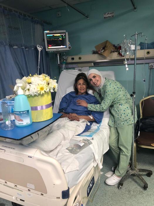 Luz María Núñez Balboa se recupera en un hospital militar en Ammán, Jordania