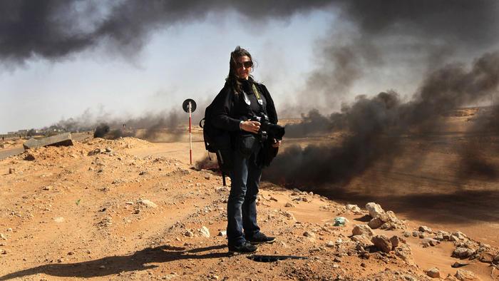 Lynsey Addario en Libia el 15 de Marzo de 2011