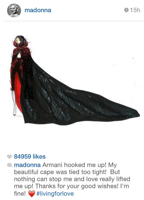 El mensaje de Madonna en Instagram