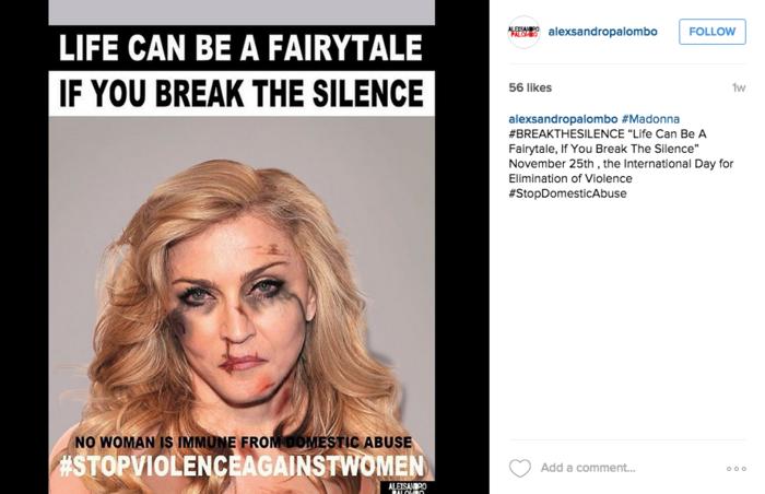 Madonna luce maltratada con Photoshop