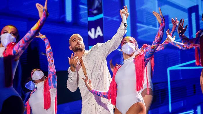 Maluma en el show de Premios Billboard 2020