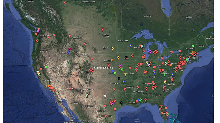 Great American Coin Hunt Map
