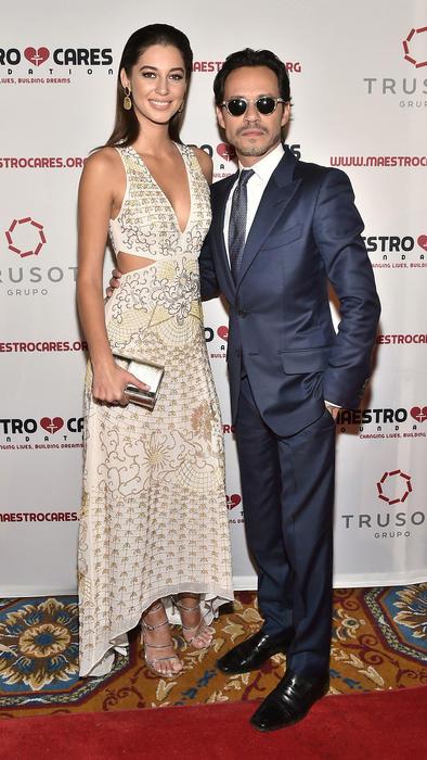 Marc Anthony y Mariana Downing en la cena de gala de la Fundación Maestro Cares