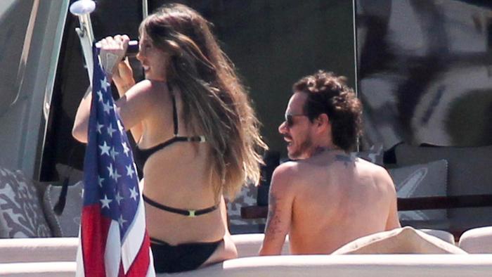 Shannon de Lima y Marc Anthony a bordo de un yate privado