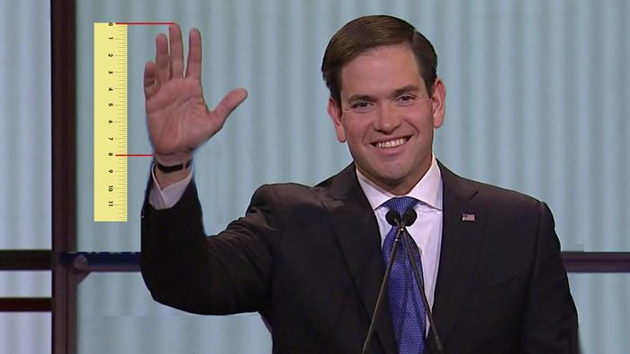 La mano de Marco Rubio