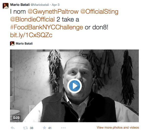 Reto del chef Mario Batali.