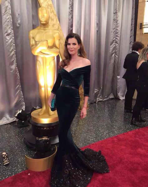 Maritza Rodríguez en la alfombra roja de los Oscar 2016