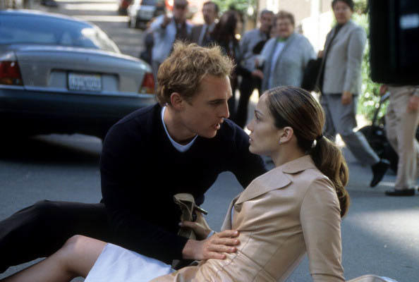 Matthew McConaughey y Jennifer Lopez en la premiere de  'The Wedding Planner'