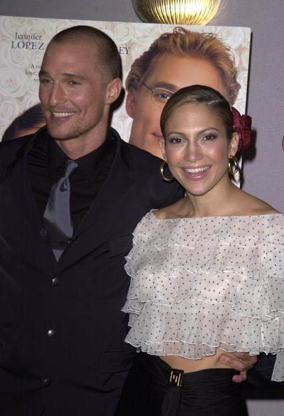 """Jennifer Lopez y Matthew McCounaghey en la premiere """"The Wedding Planner"""" Los Angeles"""