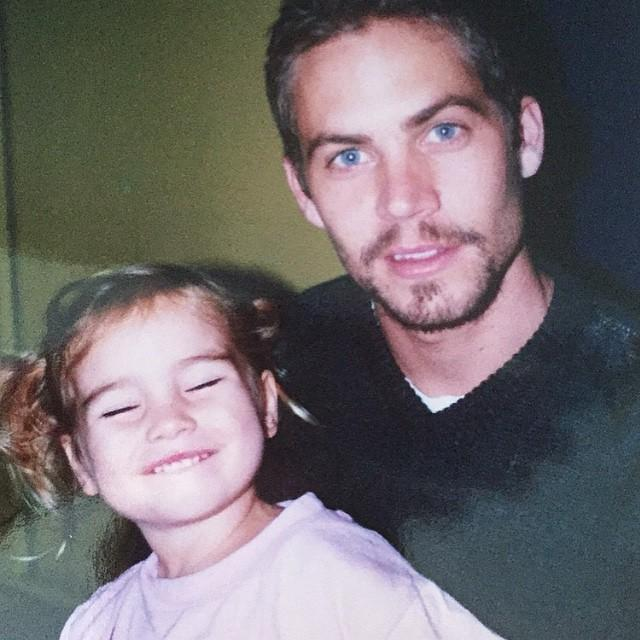 Foto de Paul Walker y su hija.