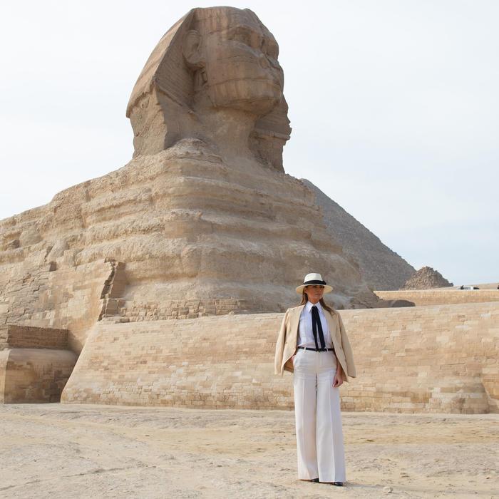 Melania Trump en Egipto