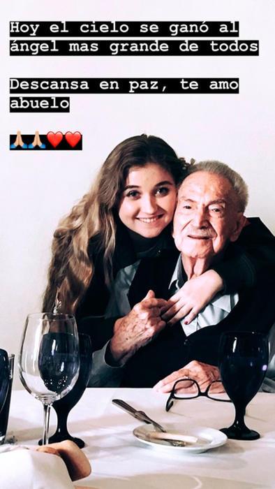 Mensaje de Fernanda Castro para su bisabuelo
