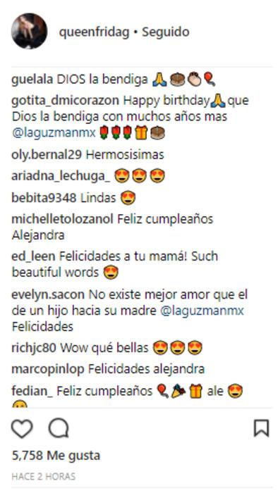 Mensajes para Alejandra Guzmán