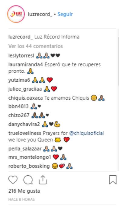 Mensajes de apoyo para Chiquis Rivera