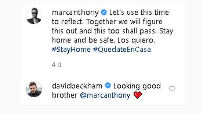 Marc Anthony y David Beckham