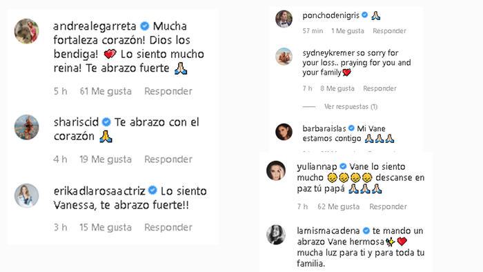 Vanessa Guzmán vive gran pérdida, su papá murió este viernes