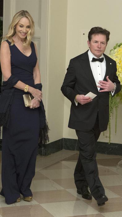 Michael J. Fox, 54 y su esposa Tracy Pollan.