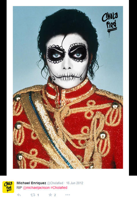 Michael Jackson maquillado como chola