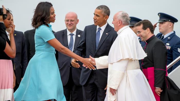 Encuentro de Michelle Obama con el Papa Francisco
