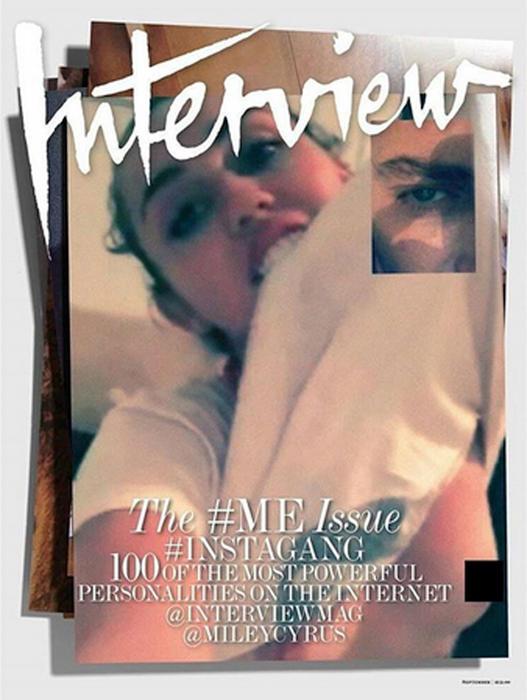 Miley Cyrus para la revista Interview