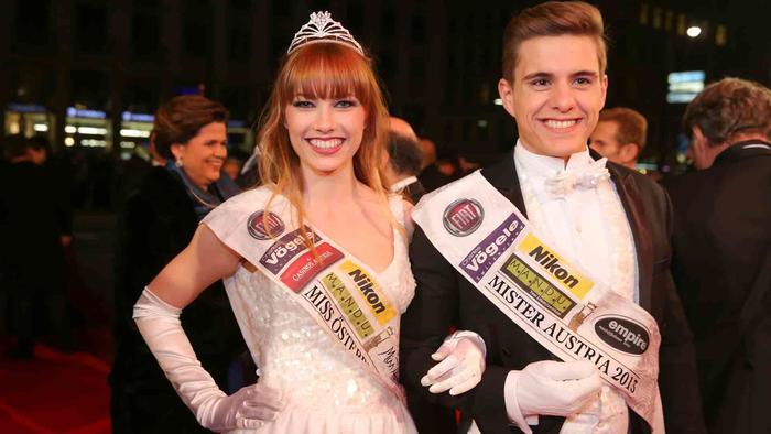 Miss Austria 2013, Ena Kadic, Mister Austria 2013 en Vienna Opera Ball 2014