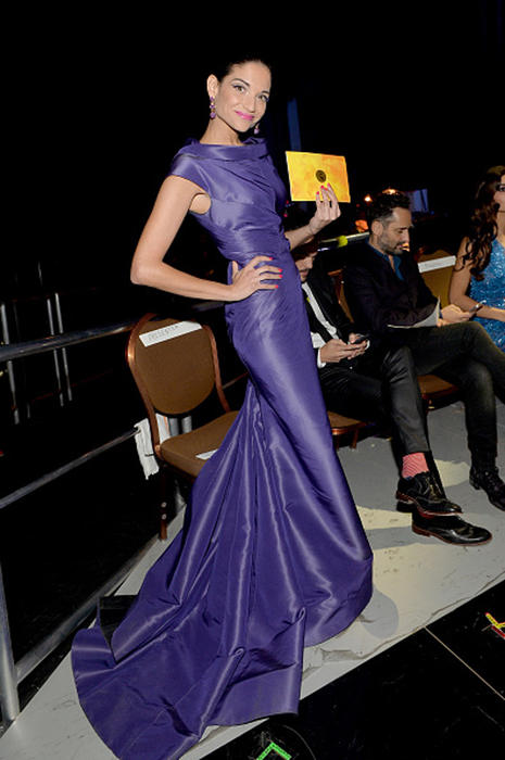 Natalia Jimenez backstage Grammys 2014