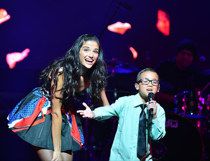 Natalia Jiménez y Jonael Santiago concierto en Miami en el James L Knight Center 2015