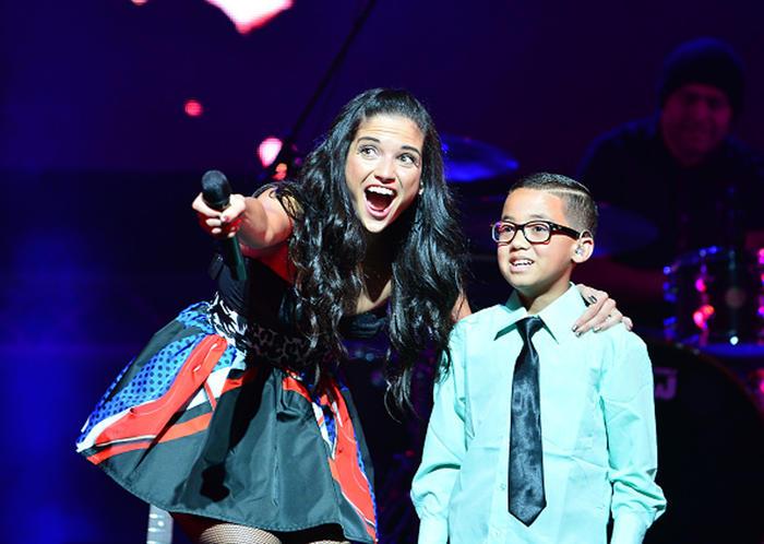 Natalia Jiménez y Jonael Santiago Ganador de La Voz Kids 2015 en Miami
