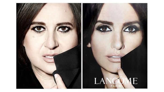 Fotógrafa, Nathalie Croquet, publica parodia de anuncios de moda de Lancome con Penélope Cruz