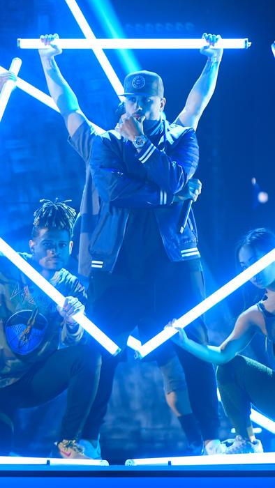 Nicky Jam en los ensayos de Premios Billboard 2019