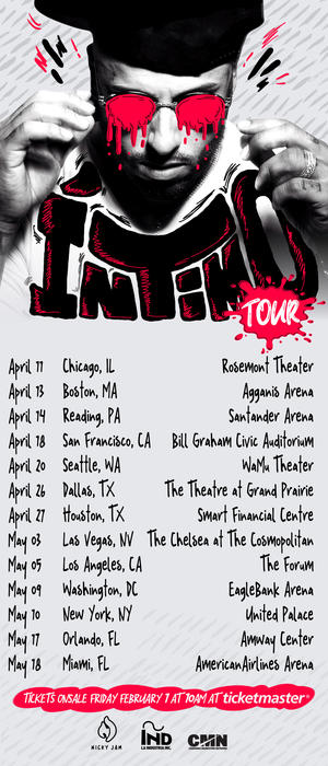 Nicky Jam tour dates