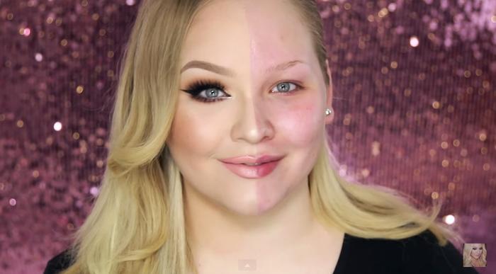 Nikkie Tutorials demuestra el poder del maquillaje usando un lado de su cara