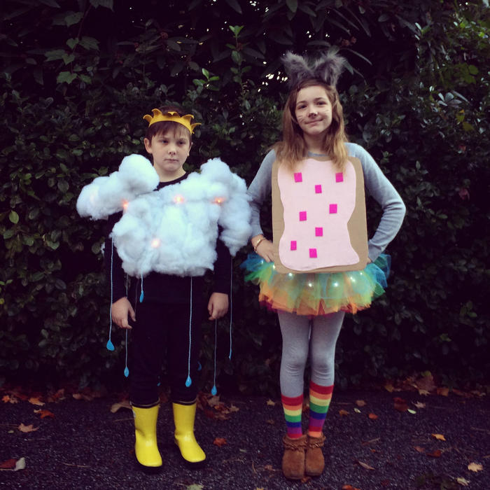 Niños con autismo celebrando Halloween