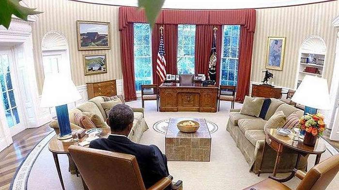 Obama en el Despacho Oval