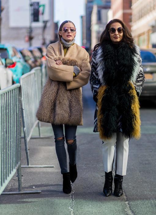 Olivia Palermo y Nausheen Shah en la semana de la moda de Nueva York