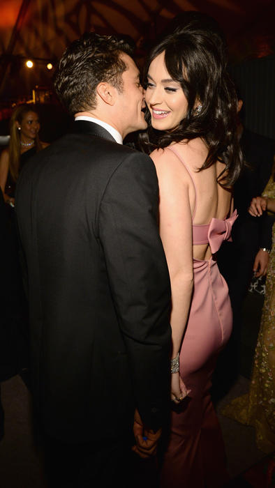 orlando bloom y katy perry en los golden globes 2016