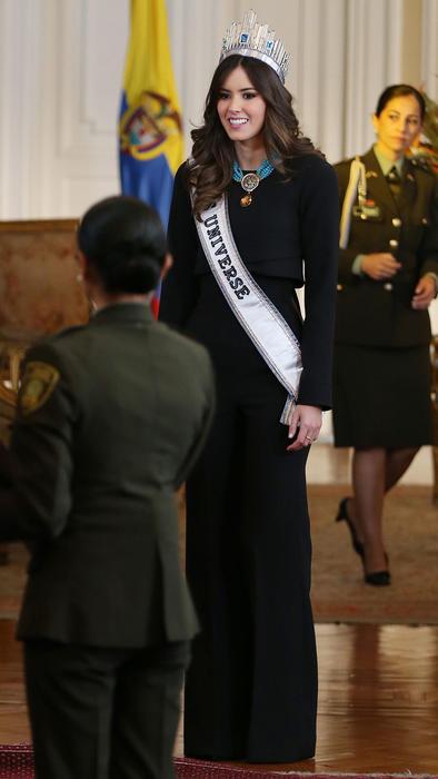 Paulina Vega en el Palacio Presidencial de Colombia