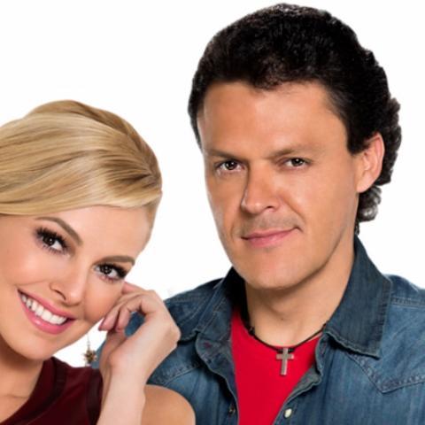 Pedro Fernández y Marjorie de Souza