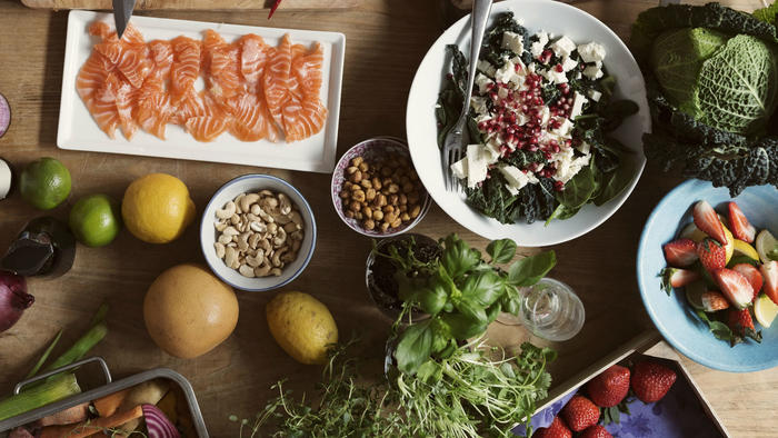 Alimentos de la dieta pegana