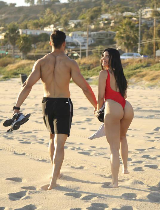 Mayra Veronica y su novio Samuel Asghari