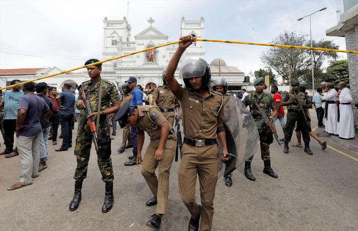Policías Sri Lanka