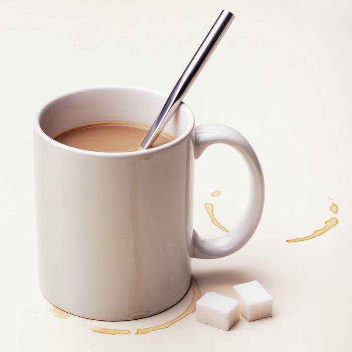 Taza con manchas de café