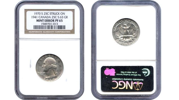Moneda de 25 centavos con error, valuada en miles de dólares